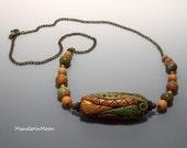 Artisan Necklace Custom Design OOAK Bead and Rainforest Jasper