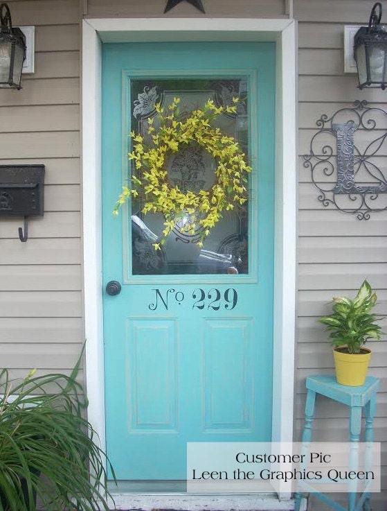 Street Number Front Door Decal House Number Decals Increase