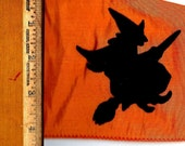 D. Stevens Flocked Wicked Witch Orange Taffeta Halloween Ribbon Trim D Stevens Wicked Witch, Craft Ribbon, Halloween Decor