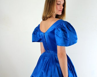 1950s Prom Dress • 50s Dress • XS 1950s Dress • 50s Prom Dress • Royal Blue Dress • 50s Party Dress • 1950s Party Dress • Blue Prom Dress