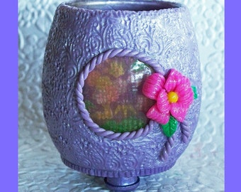 Lavender Tealight Candle Holder