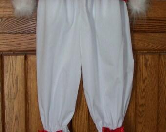 Girls White Pantaloons Size 2-14
