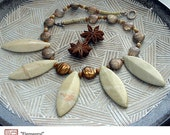 Elemental - Original, One of a Kind Strung Bead Necklace by Michelle Bush