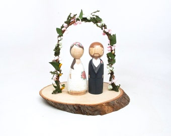 wedding cake toppers wooden dolls wooden peg dolls and wooden wedding cake toppers by 26642