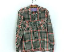 Womens  PLAID  Shirt // Glam 50's // Plaid // Fall 2014 Trends // Vintage