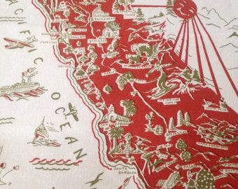 California Pillow Cover - Red