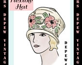 Vintage Sewing Pattern Ladies' 1920's Silk Cloche Hats Depew 3025 -INSTANT DOWNLOAD-