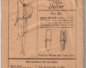 Antique Sewing Pattern 1920's Ladies Flapper Dress Vintage Butterick 1823 - Free Pattern Grading E-book Included