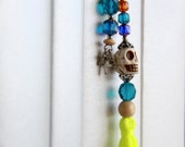 Calavera skull dia de los muertos gift mexican decor folk bookmark