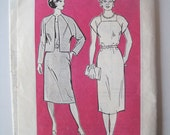 "Vintage mail order sewing pattern 4063 size 16-20 bust 38"" - 42"" classic timeless style raglan sleeve dress with belt mailorder reader mail"