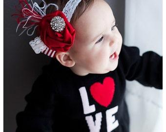 Newborn Headband,Baby Girls headbands,Baby girls Headbands,Flower headbands,Red headbands,Red Fascinator,Girls Hair Bows-easter headbands