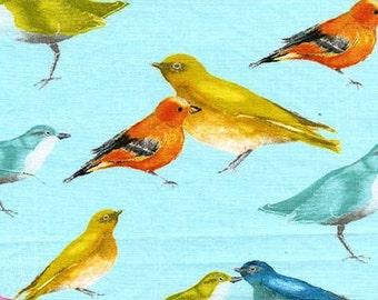 Birds Sky Blue Flutter Michael Miller Fabric 1 yard