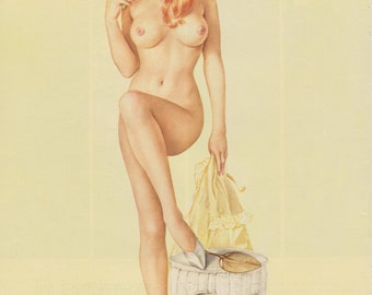 7# Vintage Vargas Nude Pin Up Girl Playboy Picture  July 1968