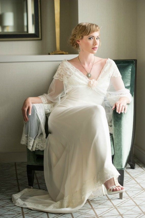 Vintage Style Wedding Dresses, Vintage Inspired Wedding Gowns 1930s Wedding Dress ASTRID1930s Wedding Dress ASTRID $2,100.00 AT vintagedancer.com