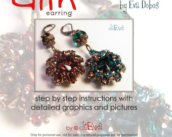 bead pattern - F51 - Glin - earring with Superduo - Instruction for personal use only