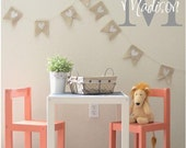 Personalized Kids Girls Name/Initial Wall Decals Vinyl Lettering Custom Words