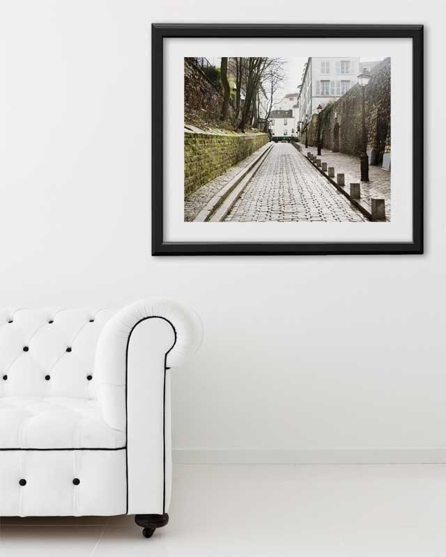 """Paris Print, """"Rue des Saules"""" Extra Large Wall Art, Paris Photography Art Print, Oversized Art, Fine Art Photography Paris Decor"""