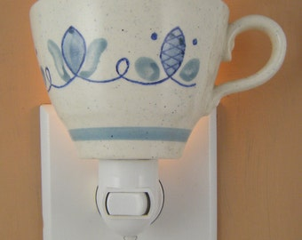 Metlox Poppytrail CAPE COD Pattern Blue And White Tea Cup Night Light With Handle