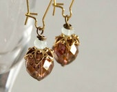 Ember - elegant long length beaded earrings