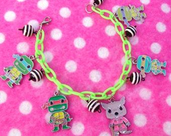 Chibi TMNT Ninja Turtle Charm Bracelet