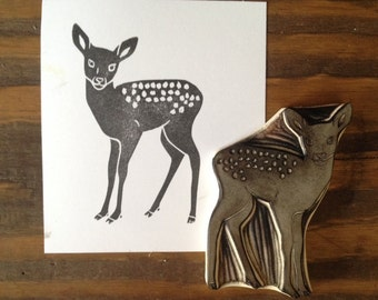 Fawn Hand Carved Stamp