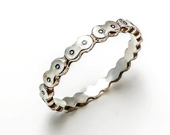 Bicycle Chain Ring Wide Silver