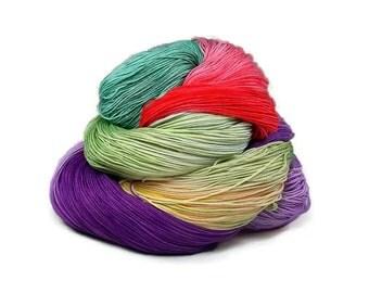300 Yards Hand Dyed Cotton Crochet Thread Size 10 3 Ply Specialty Thread Purple Red Sea Foam Green Yellow Fine Cotton Yarn
