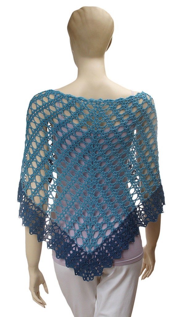 Crochet Lace Weight Shawl Pattern : Crochet Angelika Lace Shawl pattern pdf download