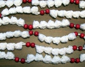 14 Foot Handmade Popcorn Cranberry Christmas Garland
