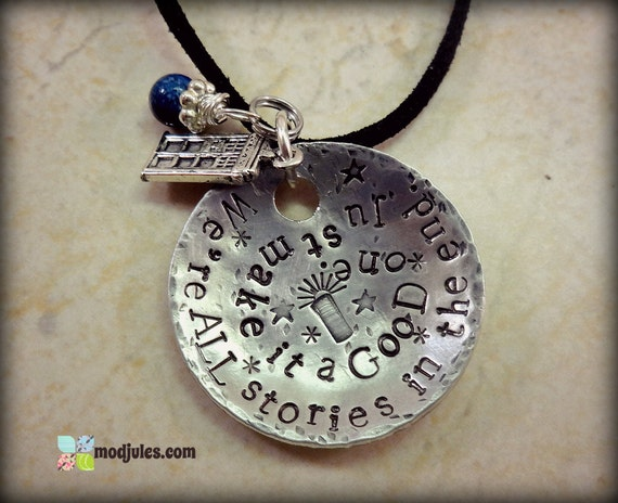 Dr Who Necklace Dr Who Jewelry We're all Stories in the