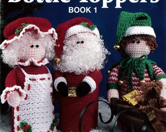 Holiday Bottle Toppers 1 Crochet Pattern Leaflet - PDF
