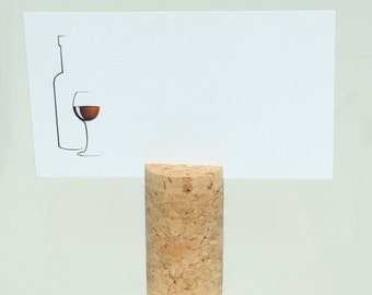 Top Slit, Blank Vertical Wine Cork Place Card Holders