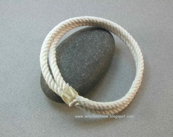 thick cotton two strand rope bracelet soft bangle bracelet nautical bracelet rope jewelry 3169