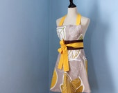 Golden Autumn Leaves Full Apron for Women with IKEA Fabric