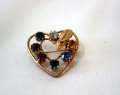 Heart and Stone Brooch