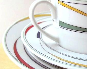 geometric dinnerware set  international china Flash primary colors chevron design