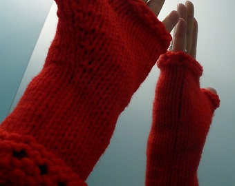 Hand Crocheted Fingerless Gloves, Hand Warmers, Arm Warmers, Texting Gloves
