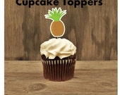 Luau Party- Set of 12 Pineapple Cupcake Toppers by The Birthday House