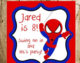 Superhero Friends - Custom Spiderman Party Sign by The Birthday House