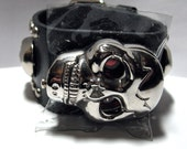 Watch- Skull Watch with Leather Band
