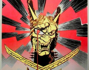 "Limited Edition Metal Hanya Screen Print Autographed by Josh ""Warmaster"" Barnett & Artist"