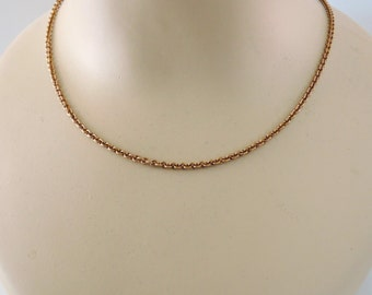 Vintage Necklace - Vintage Brass Necklace - 24 inch Cable Link Chain - Handmade jewelry