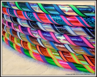 The PINSTRIPE COLLECTION - Custom Couture Travel Hula Hoop - ANY Colors & Sizes~!