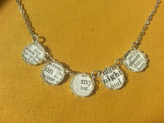 liz lemon inspired necklace working on my by