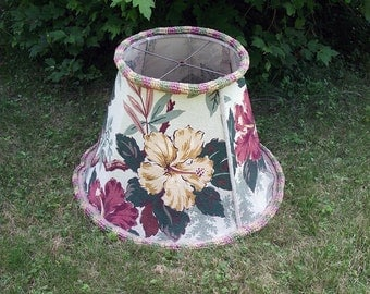 Giant Lamp Shade Vintage Floral Pattern Lampshade Cottage Chic
