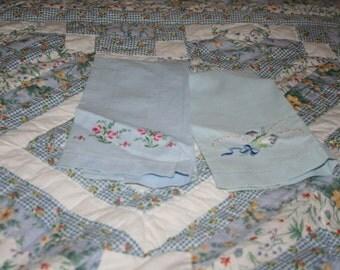 Set of Blue Guest Towels