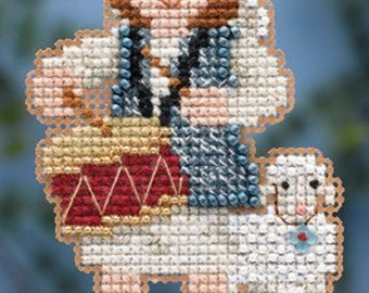 Mill Hill Winter Holiday Collection, Drummer Boy MH18-4305 Christmas Ornament Counted Cross Stitch Kit