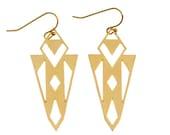 ON SALE SALE 35% Off:Gatsby Gold Earrings