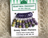 Binary stitch markers you can count on - small