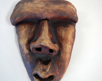 Tribal Wall Mask  with hiding place